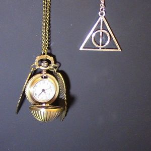 Jewelry - Snitch Watch with FREE Deathly Hallow Necklace